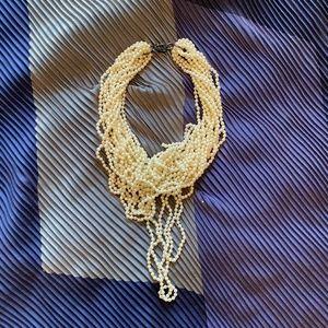 Multi-strand Pearl Choker Necklace
